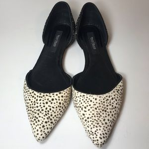 White House Black Market Calf Hair Flats- Size 8